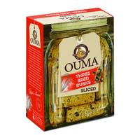 Ouma Three Seed Rusks - Sliced 450g