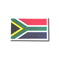 Sa Flag Sticker 12 X 8.5cm
