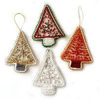Beaded Christmas Tree Decorations (Pack of 5)