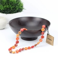 "Kazuri Tombola Necklace (Fire Australia 22"")"