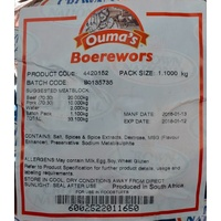 Crown National Ouma's Boerewors Spice 1.1kg