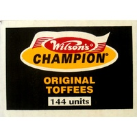 Wilsons Original Champion Toffees - Box Of 112