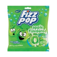 Beacon Fizz Pop Apple Flavoured Lollipops - 10 Pack