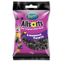 Beacon Liquorice Twists 75g (BB 22/02/19)