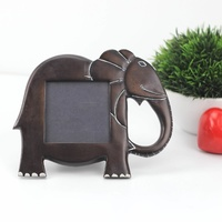 Kisii Soap Stone Large Elephant Frame - 20cm x 18cm - Single