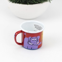 Lumela Painted Enamel Mug - Small [Colour: Red]
