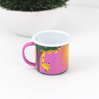 Lumela Painted Enamel Mug - Small [Colour: Pink]