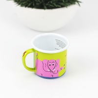 Lumela Painted Enamel Mug - Small [Colour: Green]