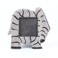Kisii Soap Stone Frame - Zebra [Colour: Black and White]