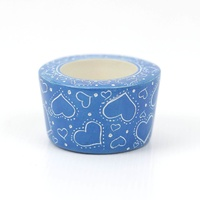 Kisii Soap Stone Tea Light Holders - 6cm x 4cm [Colour: Blue]