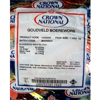 Crown National Goudveld Boerewors Seasoning 1.1kg (Discontinued)