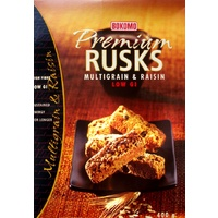 Bokomo Premium Multigrain & Raisin Rusks - 400g Low Gi