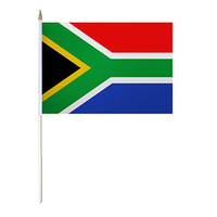 Mini South African Flag 60cm x 42cm with Plastic Stick