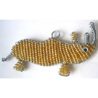 Beaded Rhino Christmas Decoration
