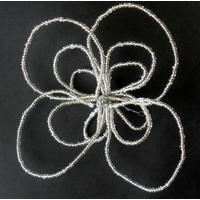 Wirechic Silver Beaded Fantasy Star Decoration