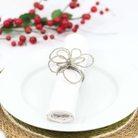 Wirechic Fantasy Serviette/ Napkin Ring Silver Set of 2