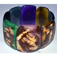 Tagua Rectangle Bracelet - Multicolour