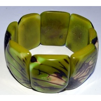 Tagua Rectangle Bracelet - Green