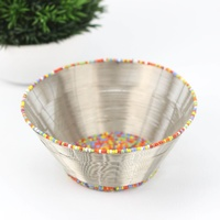 Wirechic Wire Beaded Bowl - Silver & Multicoloured (17X7.5cm)