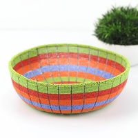 Wirechic Wire Beaded Bowl - Colourful Stripes (29cm)