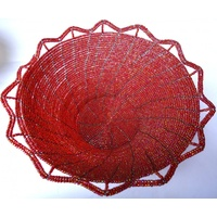 Beaded Frilly Bowl Large (23cm)