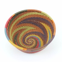 Telephone Wire Bowl Medium (12cm) [Colour: Earthy Rainbow]