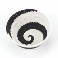 Telephone Wire Bowl Medium (12cm) [Colour: Black and White]