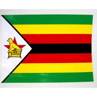 Zimbabwe Flag Sticker  12 X 9cm