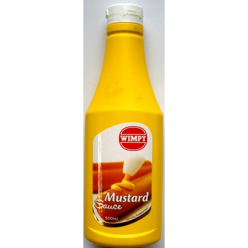 Wimpy Mustard Sauce - 500ml Squeeze Bottle