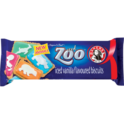 Bakers Iced Zoo Biscuits 150g