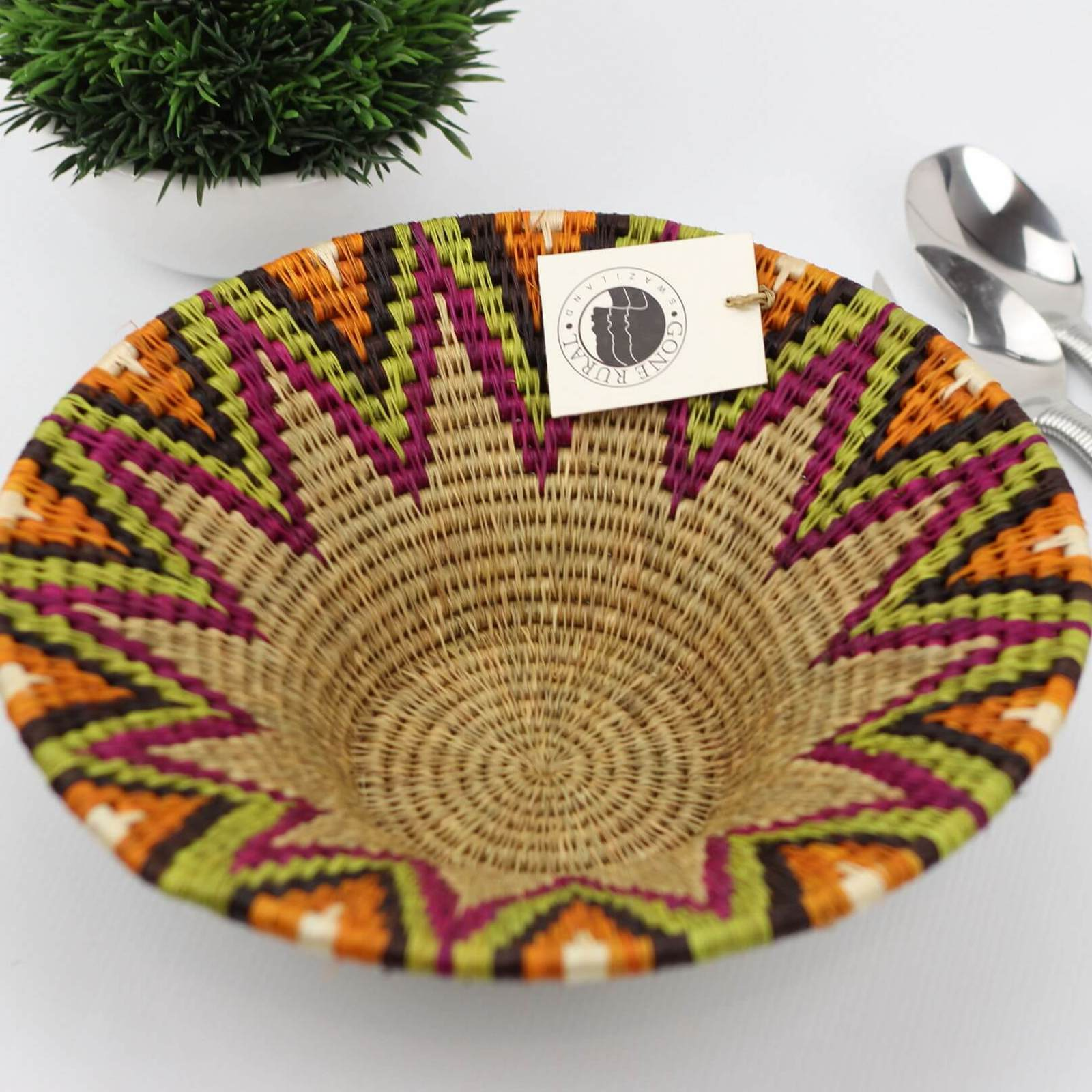 Gone Rural Swazi Bowl Medium Candy (30cm)
