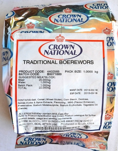Crown National Traditional Boerewors Spice 1kg