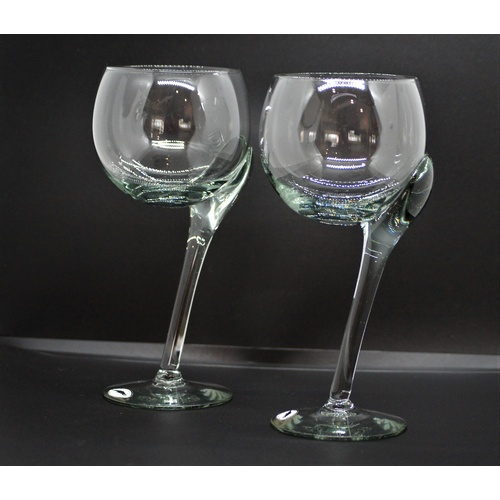 Crooked Steam Wine Glasses (Handmade) Set of 2